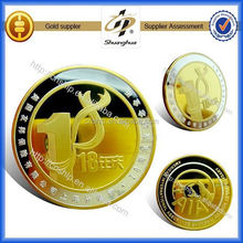 Factory direct gold metal custom coin validator