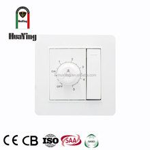 White home recessed light controller switch and dimmer on same plate