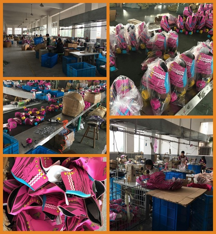 wholesale quad roller skates with PVC leather