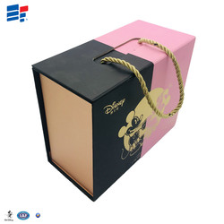cardboard magnetic gift packaging cake handle box