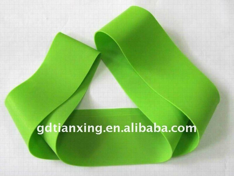 Workout exercise band made of latex /resistance band factory