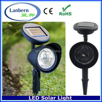 3PCS White LED ABS plastic outdoor pathway landscape decorations LED Solar Garden lowes outdoor light fixtures JD-126B