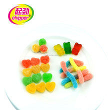 Various shape kosher gummy candy bear candy