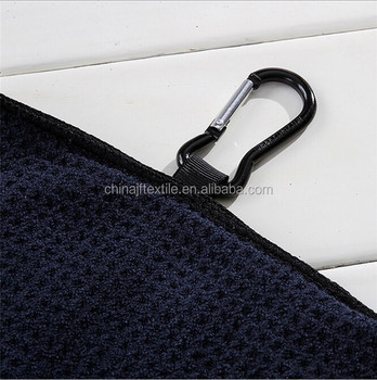 Custom Promotion High Quality Hot Sale waffle microfiber golf towel wholesale China OEM Microfiber