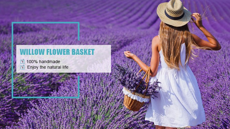 Most popular Wicker flower basket for home decoration