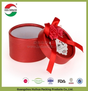 Customized round Cardboard paper flower box