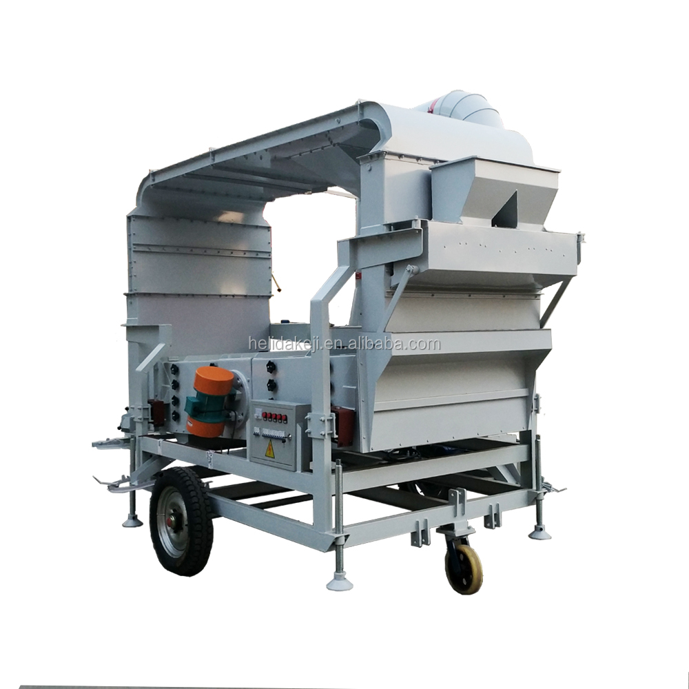 Movable beans cleaner machine