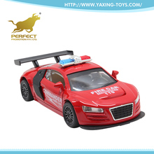wholesale kids alloy police metal pull back small toy car with sound and light