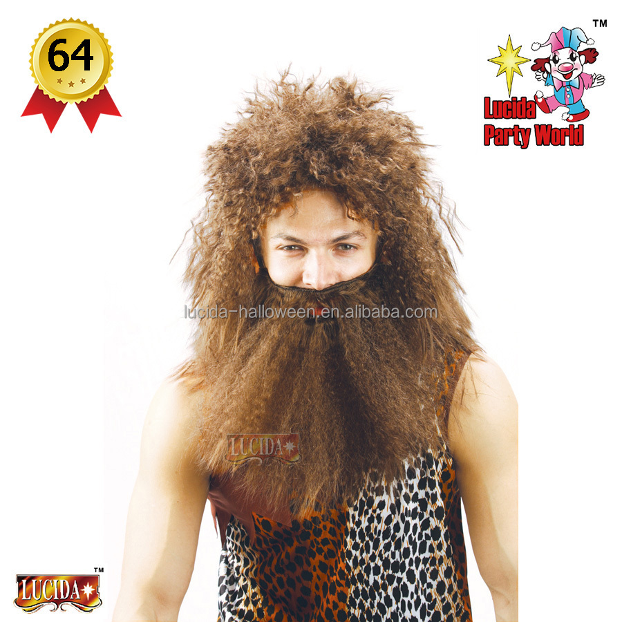Lucida manufacturer Carnival jungle caveman beard & wig party wigs
