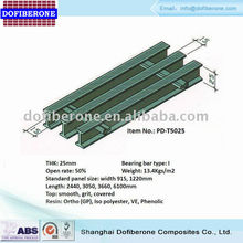 FRP fiberglass pultrusion grating T-bar 30mm 60% open rate