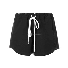 Women Fashion Wholesale Custom Black Cotton Canvas Mini Shorts Pants Guangzhou Apparel Clothing China Manufacturer Hot Shorts