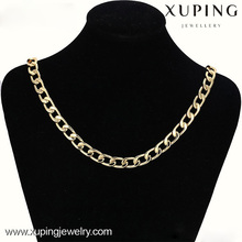 42564 xuping african necklace chain, 14k gold plated necklaces for women