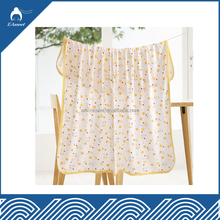alibaba china soft 100% bamboo printed muslin fabric for baby blankets