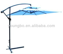 10' Outdoor folding beach umbrella Sun Offset Parasol Gazebo Shade Tent