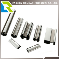 ASTM 304 304L welded stainless steel tube for handrail or stair rail construction material