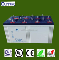 2v 3000ah solar rechargeable battery for pv power system (CE ISO9001 ISO14001 ROHS)