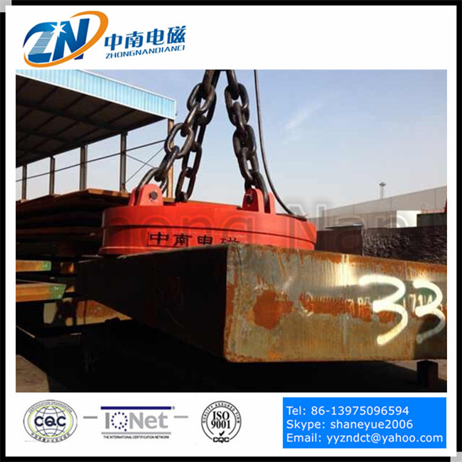 Crane Lifting Electromagnet for Thick steel plate handling equipment with 32ton lifting capacity MW03-160L/1
