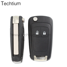 modified folding flip key 2 Button For Buick Flip Remote Key Fob with electronic Board 433Mhz