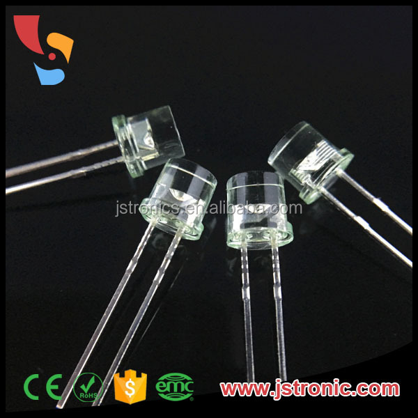 Ultra bright 5mm flat top led white emitting color diode