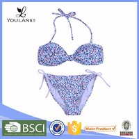 Manufacture Breathable Printed Polyester Micro String Bikini