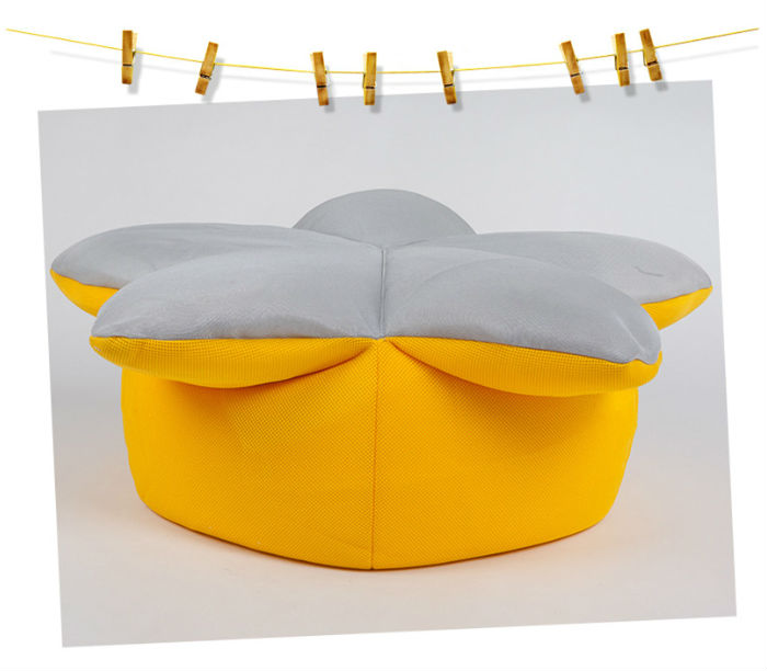 Stylish Breathable Air Mesh Mini Sunflower Bean Bag Chair Cover for Kids