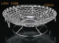 "FD045 14.5"" Glass Dinner Dish For Fruit"