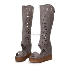 fashion women sandals hollow ladies high heel shoes summer rubber boot