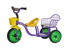 2016 Cheap hot sale colorful plastic baby kids Tricycle/twin tricycle / baby trike tricycle with back seat for philippines