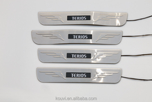 High quality cars auto parts LED door sills plate for Terios