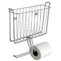Wallmount Magazine and Tissue Holder toilet paper holder Unique Paper Towel Holder