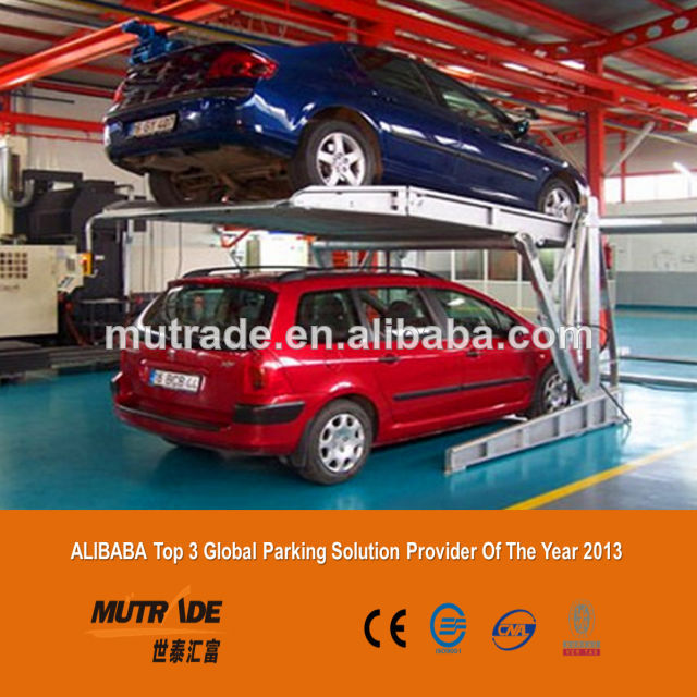 2 Cars Automotive Equipment Tilting Hydraulic Lifting Hydraulic and Electric Jacks