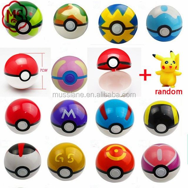 Large In Stock Original Factory Cheapest Price Big Promotion 7cm pokemon ball pokeball toys