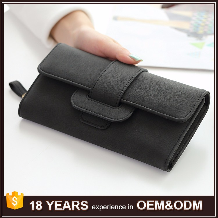 Online Shopping New Fashion Woman Leather Zipper Clutch Bag Lady Wallet Purse