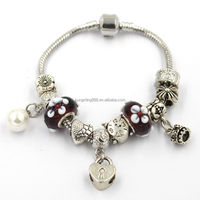 Customize engraved stainless beads charms string ,pearl charms bracelet