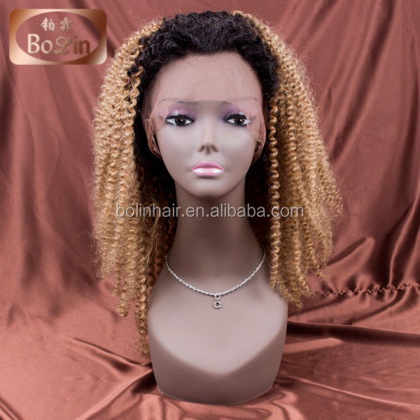 bolin hair kinky twist braided lace wig lace front wig baby hair