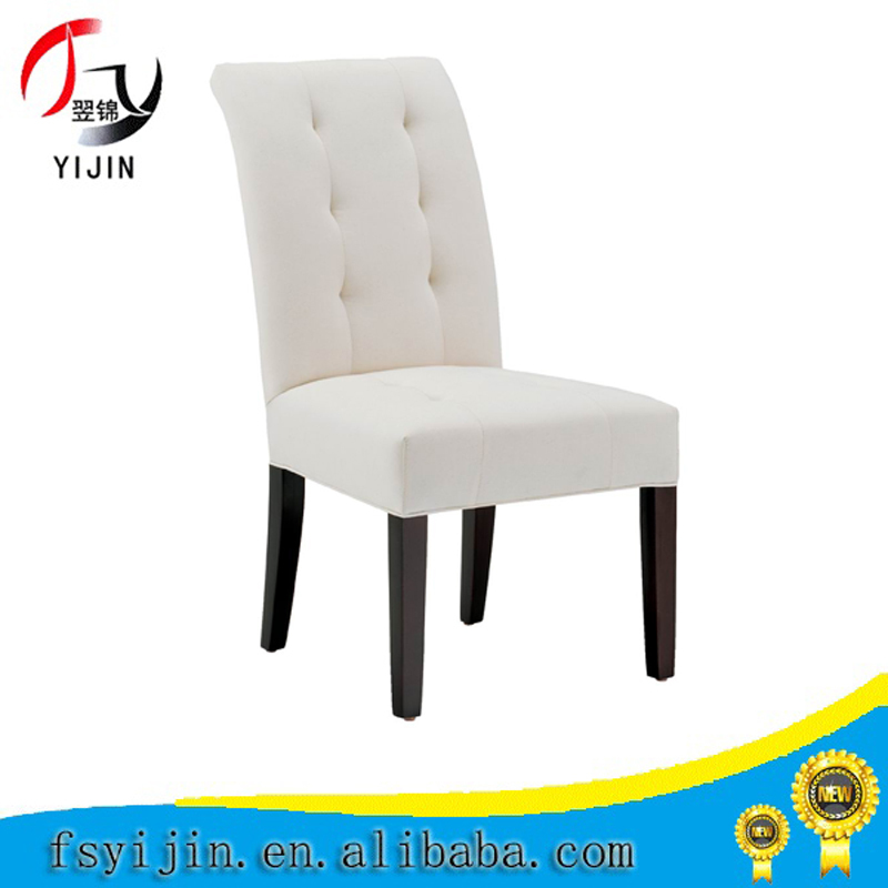 Wedding design furniture, french style upholstered dining chair,white fabric white dining chairs