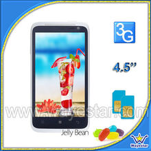Android 4.1 dual core 3G 850/1900/2100 4.5 inch android smart mobile phone