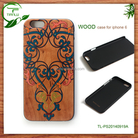 Worlds thinnest design plastic + wood case for iphone 6 for apples