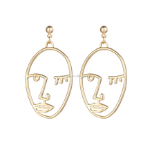 Face shape earring wholesale cheap price fashion alloy jewelry china