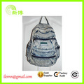 Cheap price green student customized denim backpack