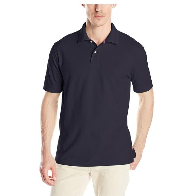 cotton spandex uniform polo shirt for men customized logo