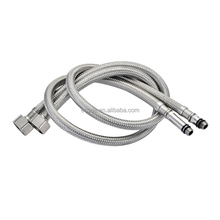 Stainless steel 304 Flexible braided Toilet Flush Tank knitted Hose for shaft and bidet connected thread