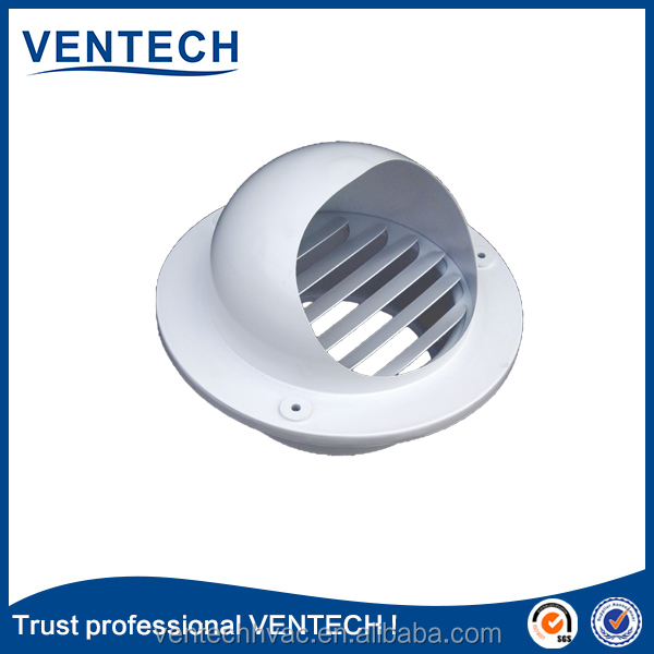 Round shape exhaust fan fixed type air louver