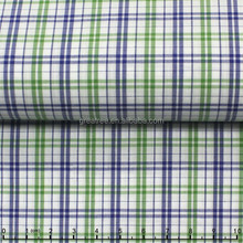 yarn dyed plain cotton poplin fabric