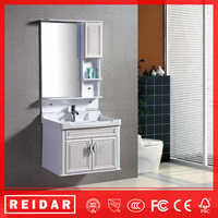 China cheap modern classic soft closer PVC wall-mounted bathroom vanity cabinets
