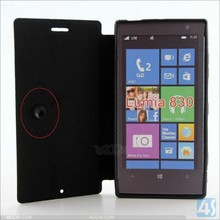 "for Nokia Lumia 830 pu leather case cover fit for 5.0"" inch screen P-NOK830PUCA003"