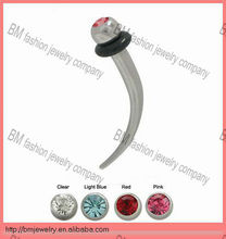 Cool curved ear tapers crystal plugs body piercing jewelry