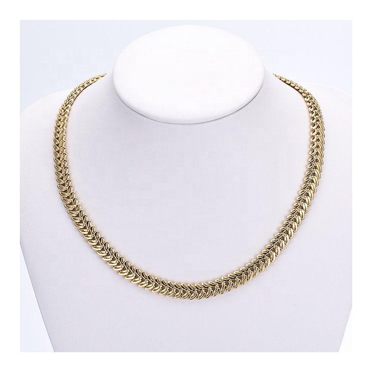 C11201 Ladies <strong>Fashion</strong> 2019 Gold Plated Chain Jewelry Gold 18K Necklace For Women