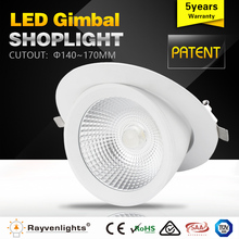 factory supply led gimbal 6 inch 30w cob downlight led for residential lighting