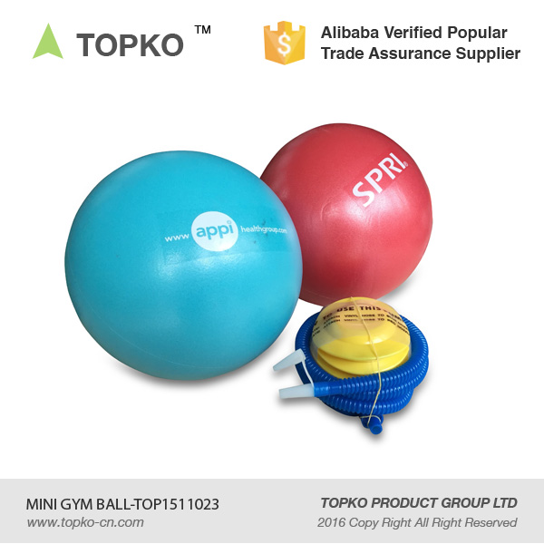 TOPKO 23CM mini gym ball with pump high quality PVC yoga ball